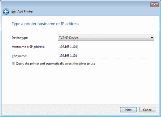 How can I find the IP address of the printer