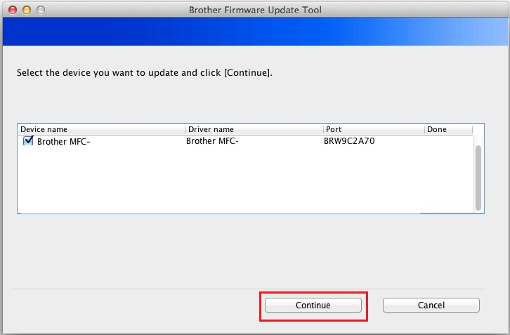 How to update brother printer firmware