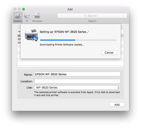 how to install epson printer driver on Apple