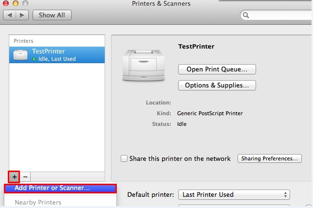 how to change printer from offline to online on Mac
