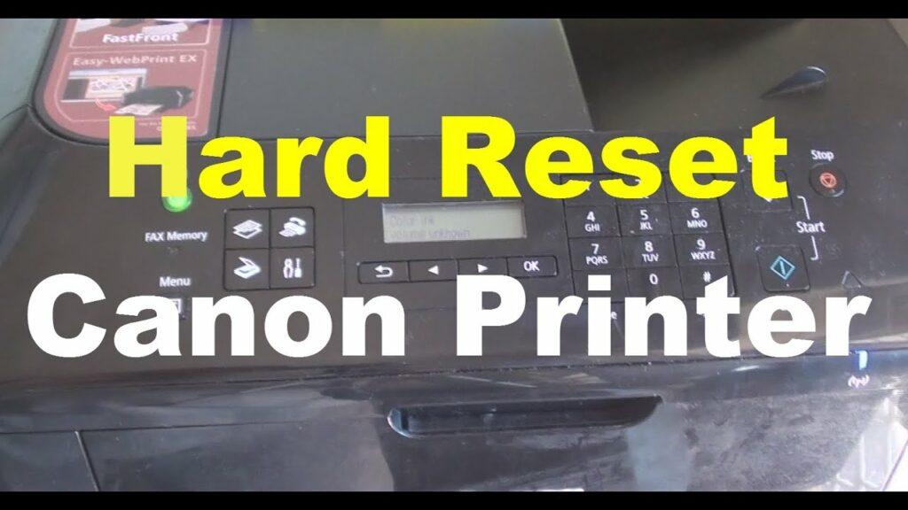 Hard reset canon printer: How to reset printer
