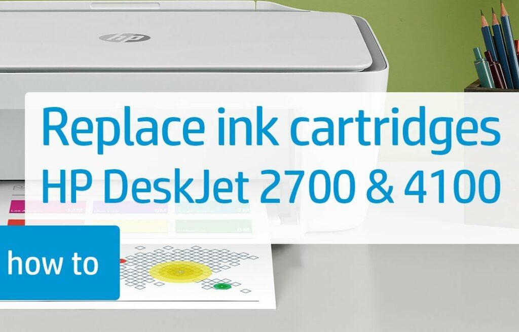 Hp Deskjet 4100 ink: Replace ink cartridges