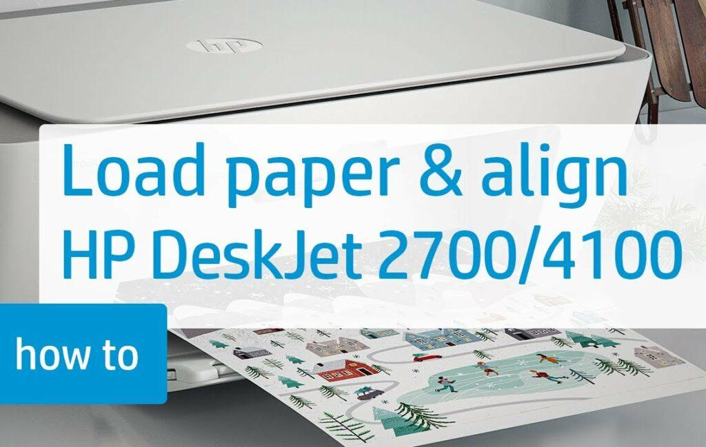 hp deskjet plus 4100 ink: How to load paper