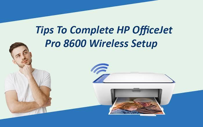 hp officejet pro 8600 ink: wireless setup