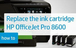 officejet pro 8600: change ink cartridges